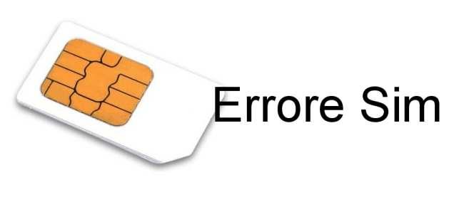Errore Sim