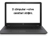 Errore caratteri tastiera computer